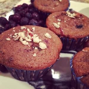 blueberry beet muffins