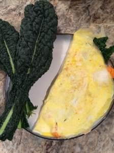 Sweet potato kale omelet