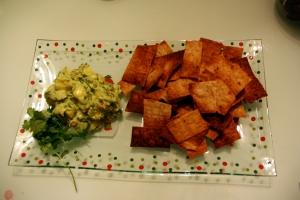 Guac and Pita chips