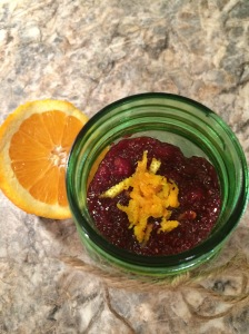 Orange Cranberry Chia Jam