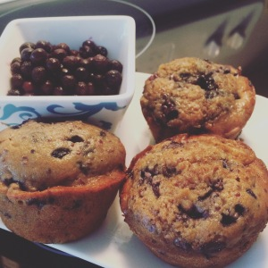 Red Quinoa Blueberry Muffins